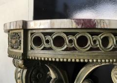 Louis XVI style carved wood and white painted console - 1181481