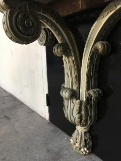 Louis XVI style carved wood and white painted console - 1181483