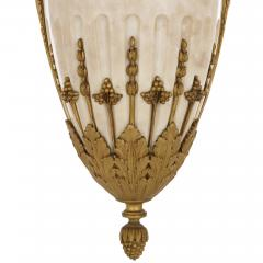 Louis XVI style marble gilt bronze and jasperware chandelier - 1451598