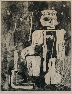 Louise Nevelson Louise Nevelson Framed Etching The Search 1953 1955 - 963391