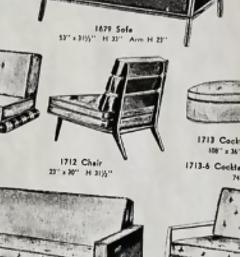 Lounge Chair by T H Robsjohn Gibbings for Widdicomb - 1549752