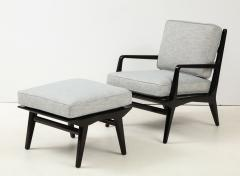 Lounge chair and ottoman Carlo di Carli for M Singer Sons - 1508096
