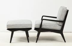 Lounge chair and ottoman Carlo di Carli for M Singer Sons - 1508097