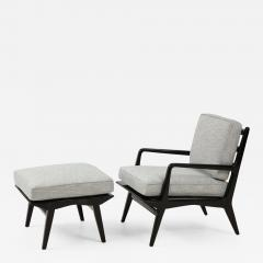 Lounge chair and ottoman Carlo di Carli for M Singer Sons - 1509571