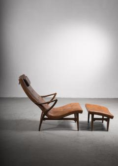 Lounge chair with ottoman Sweden 1930s - 2140414