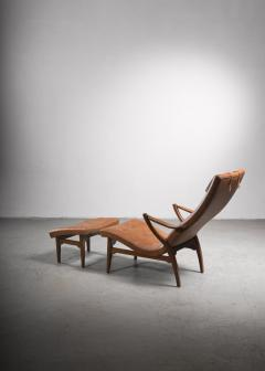 Lounge chair with ottoman Sweden 1930s - 2140415