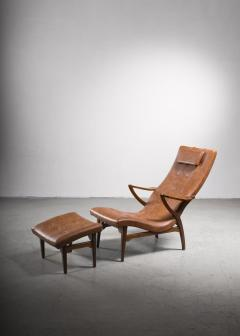 Lounge chair with ottoman Sweden 1930s - 2140416