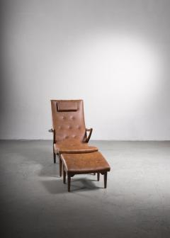 Lounge chair with ottoman Sweden 1930s - 2140417