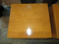 Lovely Pair of Conant Ball Maple Nightstand Tables Mid Century Modern - 1613963