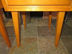 Lovely Pair of Conant Ball Maple Nightstand Tables Mid Century Modern - 1613967