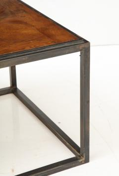 Lucca Co Made to Order Parquet Side Table on Metal Base - 993794