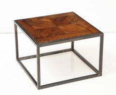 Lucca Co Made to Order Parquet Side Table on Metal Base - 993795
