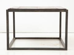 Lucca Co Made to Order Parquet Side Table on Metal Base - 993800