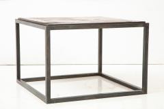 Lucca Co Made to Order Parquet Side Table on Metal Base - 993801