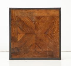 Lucca Co Made to Order Parquet Side Table on Metal Base - 993802