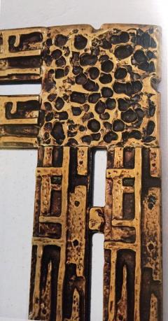 Luciano Frigerio 1970s Mirror Desir e in Bronze by L Frigerio - 254400