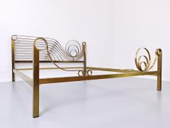 Luciano Frigerio Brass Bed by Luciano Frigerio Waves  - 1714764