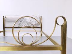 Luciano Frigerio Brass Bed by Luciano Frigerio Waves  - 1714766