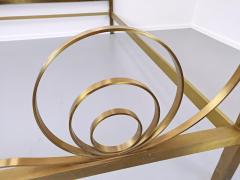 Luciano Frigerio Brass Bed by Luciano Frigerio Waves  - 1714767