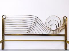 Luciano Frigerio Brass Bed by Luciano Frigerio Waves  - 1714768
