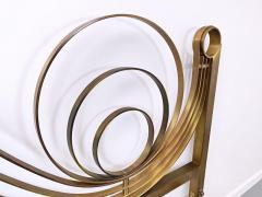 Luciano Frigerio Brass Bed by Luciano Frigerio Waves  - 1714769