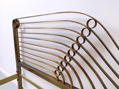 Luciano Frigerio Brass Bed by Luciano Frigerio Waves  - 1714770