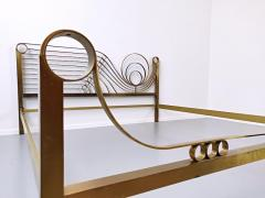 Luciano Frigerio Brass Bed by Luciano Frigerio Waves  - 1714772