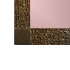 Luciano Frigerio Bronze wall Mirror by Luciano Frigerio - 1336427