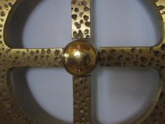 Luciano Frigerio Italian Modern Bronze Hand Hammered Queen Headboard - 1202059