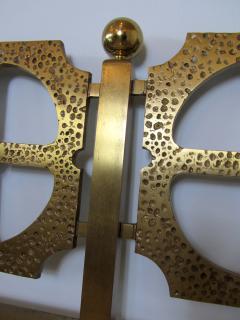 Luciano Frigerio Italian Modern Bronze Hand Hammered Queen Headboard - 1202060