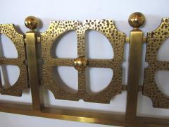 Luciano Frigerio Italian Modern Bronze Hand Hammered Queen Headboard - 1202061