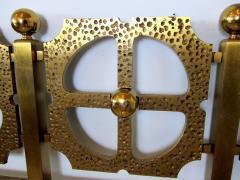 Luciano Frigerio Italian Modern Bronze Hand Hammered Queen Headboard - 1202062