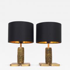 Luciano Frigerio Luciano Frigerio Bronze Table Lamps c 1960 - 1090904