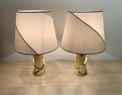 Luciano Frigerio Pair of 1980s Italian Luciano Frigerio Bronze Lamps - 1625995