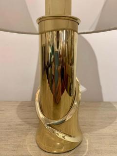 Luciano Frigerio Pair of 1980s Italian Luciano Frigerio Bronze Lamps - 1625997