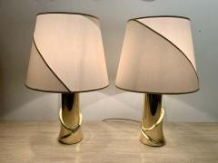 Luciano Frigerio Pair of 1980s Italian Luciano Frigerio Bronze Lamps - 1626002