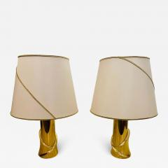 Luciano Frigerio Pair of 1980s Italian Luciano Frigerio Bronze Lamps - 1627590