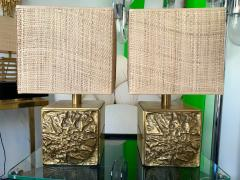 Luciano Frigerio Pair of Brass Lamps by Luciano Frigerio Italy 1970s - 1565664
