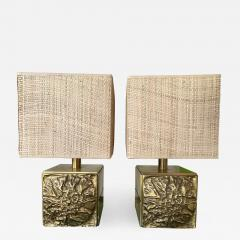 Luciano Frigerio Pair of Brass Lamps by Luciano Frigerio Italy 1970s - 1566058