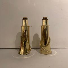 Luciano Frigerio Pair of Bronze Lamps by Luciano Frigerio Italian 1980s - 1752321