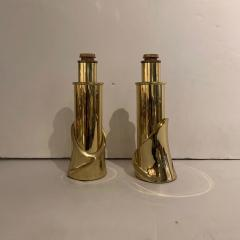 Luciano Frigerio Pair of Bronze Lamps by Luciano Frigerio Italian 1980s - 1752322