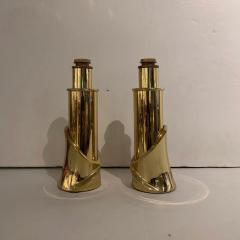 Luciano Frigerio Pair of Bronze Lamps by Luciano Frigerio Italian 1980s - 1752323
