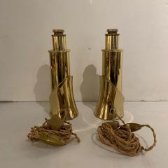 Luciano Frigerio Pair of Bronze Lamps by Luciano Frigerio Italian 1980s - 1752324