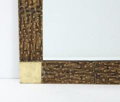 Luciano Frigerio Pair of Luciano Frigerio 1970s Bronze Mirrors - 2130163