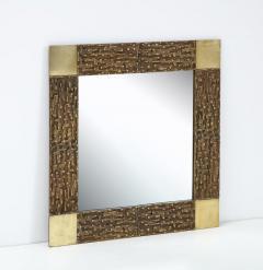 Luciano Frigerio Pair of Luciano Frigerio 1970s Bronze Mirrors - 2130164