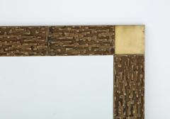 Luciano Frigerio Pair of Luciano Frigerio 1970s Bronze Mirrors - 2130167