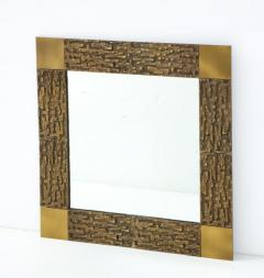 Luciano Frigerio Pair of Luciano Frigerio 1970s Bronze Mirrors - 2130169