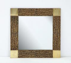 Luciano Frigerio Pair of Luciano Frigerio 1970s Bronze Mirrors - 2130170