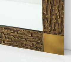Luciano Frigerio Pair of Luciano Frigerio 1970s Bronze Mirrors - 2130171