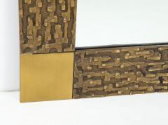 Luciano Frigerio Pair of Luciano Frigerio 1970s Bronze Mirrors - 2130172